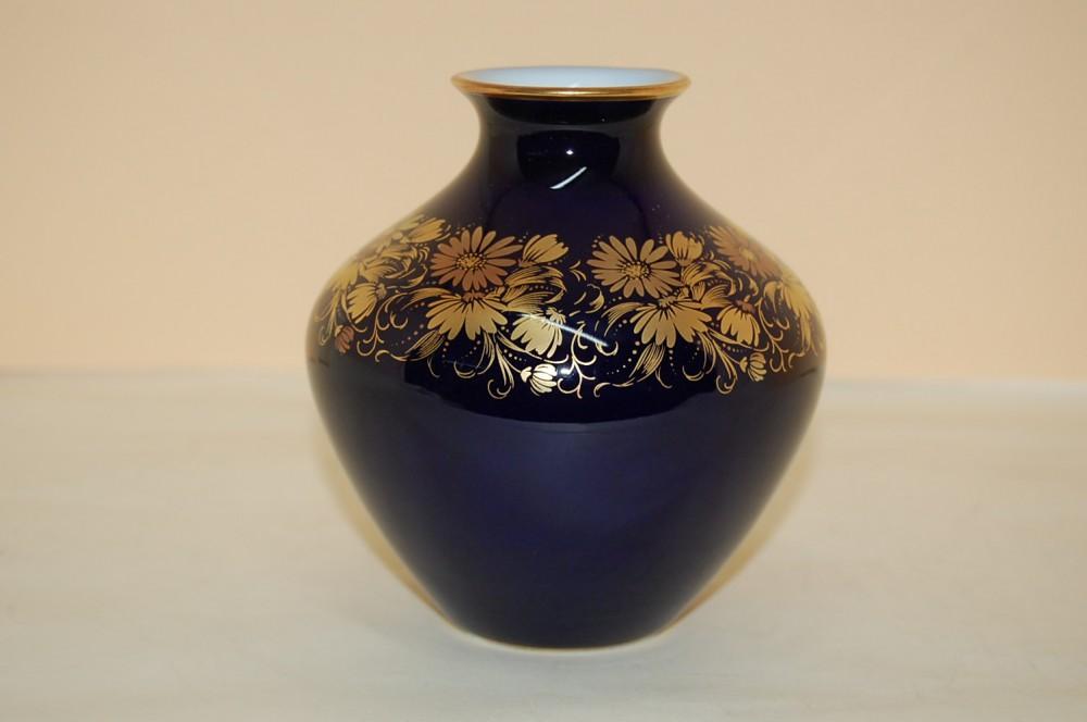 vase 11 cm echt kobalt gold 45301 hutschenreuther cm hohenberg porzellan nach herstellern. Black Bedroom Furniture Sets. Home Design Ideas