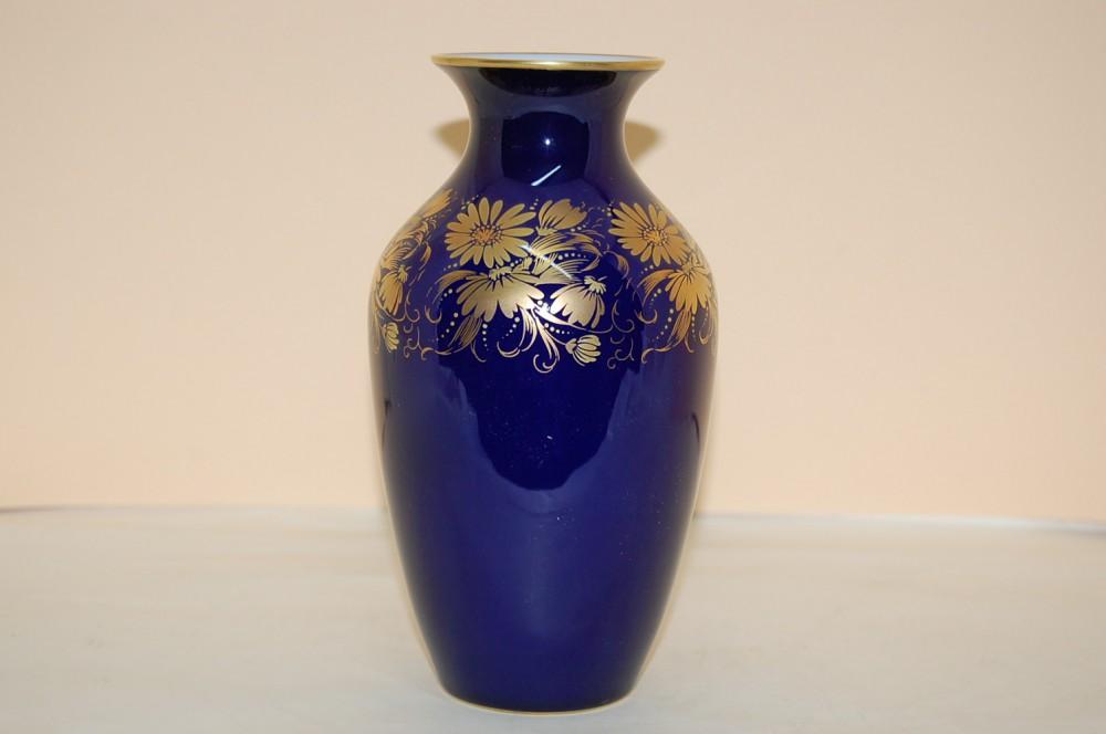 vase 18 cm echt kobalt gold hutschenreuther cm hohenberg. Black Bedroom Furniture Sets. Home Design Ideas