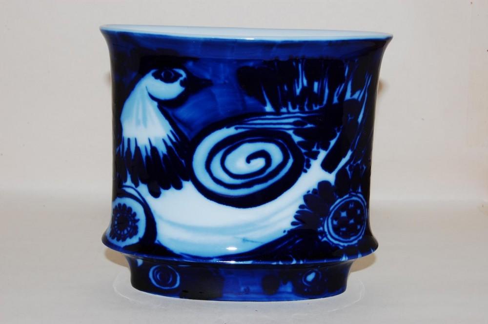 vase 16 cm bj rn wiinblad blauer vogel rosenthal porzellan nach herstellern rosenthal vase. Black Bedroom Furniture Sets. Home Design Ideas