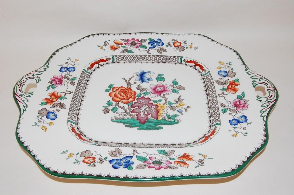 kuchenplatte henkel 23cm chinese rose spode copeland porzellan nach herstellern spode chinese rose. Black Bedroom Furniture Sets. Home Design Ideas
