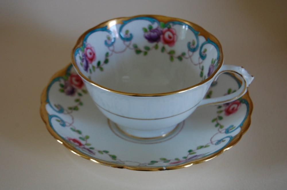 kaffeegedeck 2 teilig bunt antik 4901 tuscan china england porzellan nach herstellern sonstiges. Black Bedroom Furniture Sets. Home Design Ideas