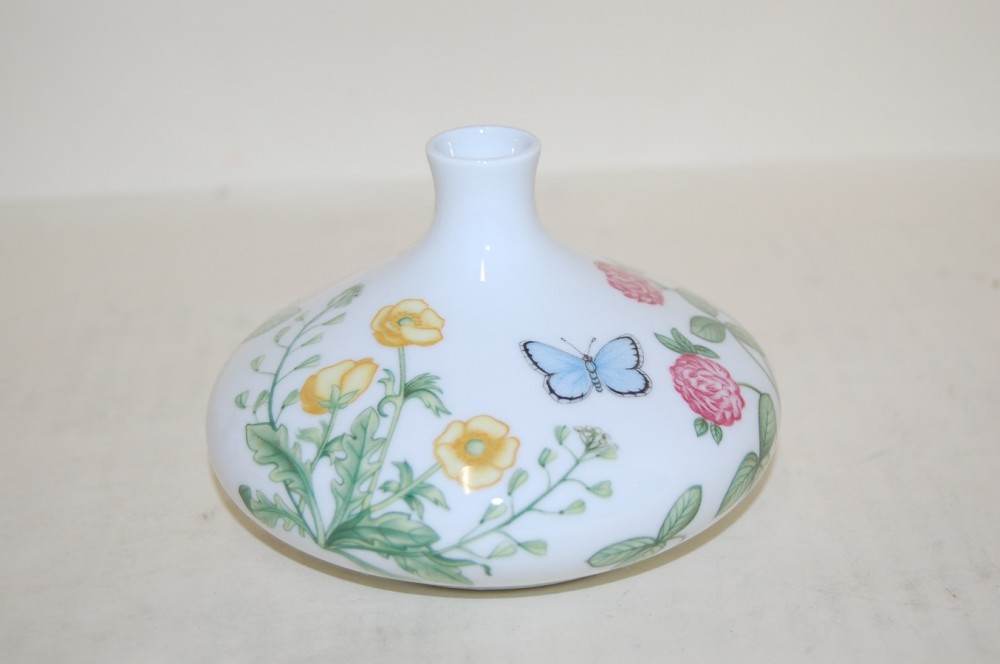 vase 8 5 cm schmetterling und blumen donau arzberg porzellan nach herstellern arzberg donau